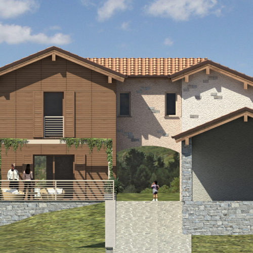 Architetto Paolo Pagani 2013 -Villa with swimming pool – Val Trebbia, Italy